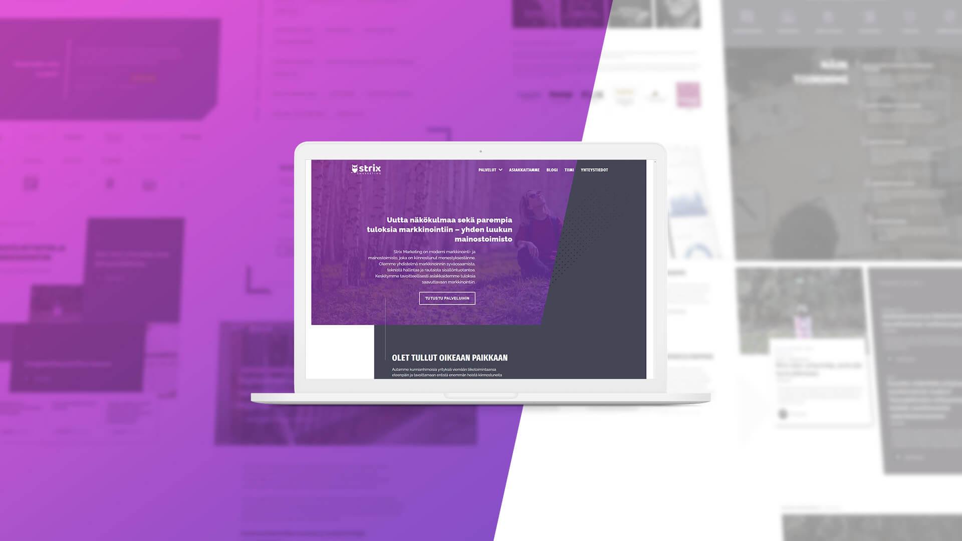 Olimme itsemme koekaniineja – uudet verkkosivut