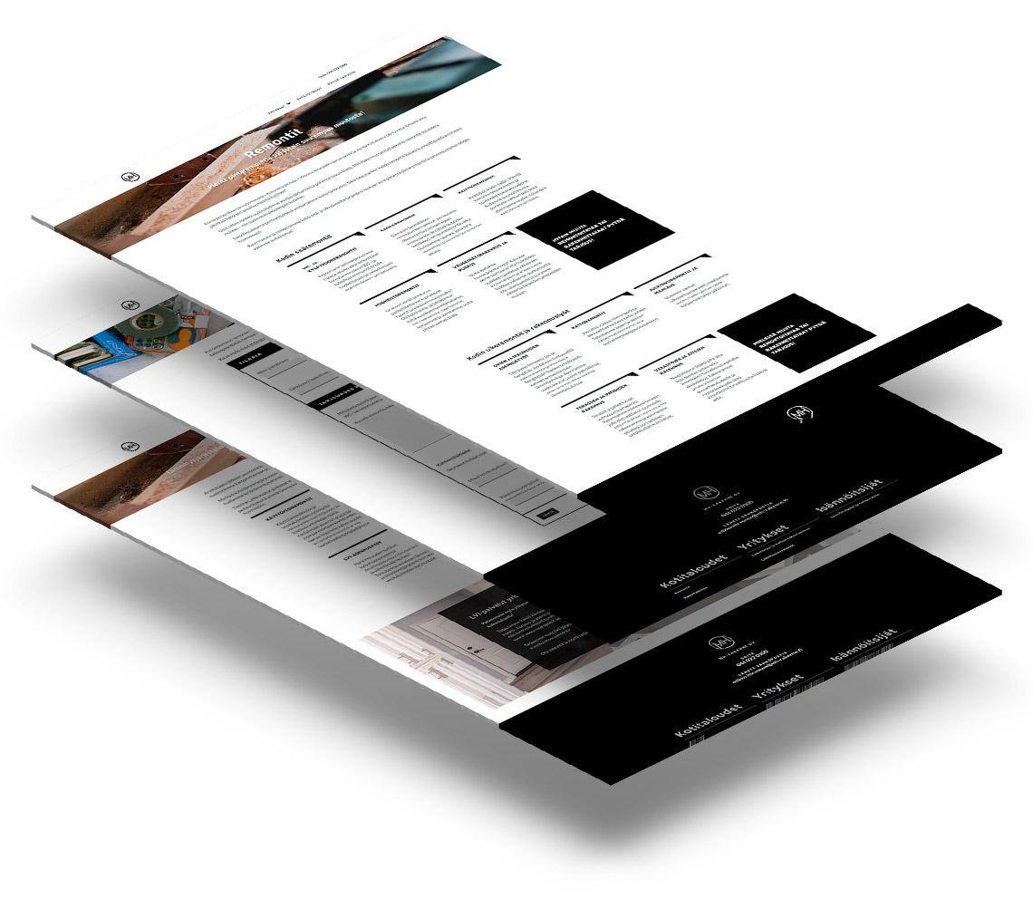 MH-Rakenne verkkosivut